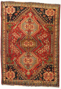 Qashqai Rug 115X160 Authentic Oriental Handknotted Rust Red/Dark Brown (Wool, Persia/Iran)