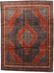 Sarouk Mir Rug 273X360 Authentic Oriental Handknotted Dark Red/Dark Grey Large (Wool, Persia/Iran)