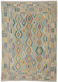 Kilim Afghan Old Style Rug 252X348 Authentic Oriental Handwoven Light Grey Large (Wool, Afghanistan)