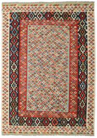 Kelim Afghan Old Style Tæppe 248X347 Ægte Orientalsk Håndvævet (Uld, Afghanistan)