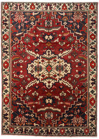 Bakhtiari Rug 218X300 Authentic Oriental Handknotted Dark Brown/Dark Red (Wool, Persia/Iran)