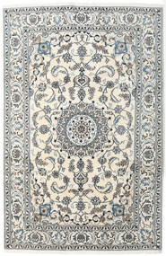 Nain Rug 200X300 Authentic  Oriental Handknotted Dark Grey/Beige/Light Grey (Wool, Persia/Iran)