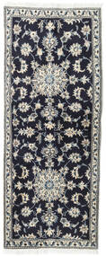 Nain Rug 79X195 Authentic  Oriental Handknotted Hallway Runner  Dark Purple/Dark Grey (Wool, Persia/Iran)