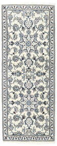 Nain Rug 75X193 Authentic  Oriental Handknotted Hallway Runner  Beige/Light Grey/White/Creme (Wool, Persia/Iran)