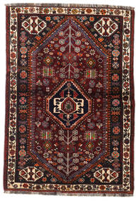 Ghashghai Covor 105X154 Orientale Lucrat Manual Maro Închis/Roșu-Închis (Lână, Persia/Iran)