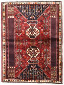 Ghashghai Matto 115X152 Itämainen Käsinsolmittu Tummanpunainen/Tummanruskea (Villa, Persia/Iran)