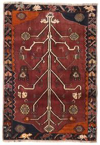 Qashqai Rug 110X161 Authentic Oriental Handknotted Dark Red/Dark Brown (Wool, Persia/Iran)
