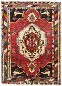 Qashqai Rug 123X171 Authentic Oriental Handknotted Dark Brown/Rust Red (Wool, Persia/Iran)