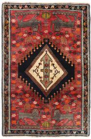 Ghashghai Vloerkleed 103X151 Echt Oosters Handgeknoopt Donkerrood/Donkerblauw (Wol, Perzië/Iran)