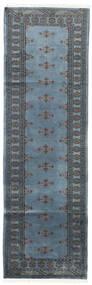 Pakistan Bokhara 2Ply Teppe 78X250 Ekte Orientalsk Håndknyttet Teppeløpere Blå/Mørk Grå (Ull, Pakistan)