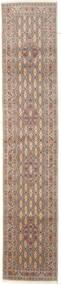 Moud Matto 77X387 Itämainen Käsinsolmittu Käytävämatto Ruskea/Beige (Villa/Silkki, Persia/Iran)