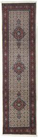 Moud Covor 79X293 Orientale Lucrat Manual Gri Închis/Bej (Lână/Mătase, Persia/Iran)