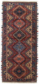 ヤラメー 絨毯 85X198 オリエンタル 手織り 廊下 カーペット 深紅色の/黒 (ウール, ペルシャ/イラン)