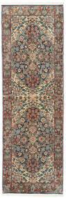 アフシャル/Sirjan 絨毯 68X210 オリエンタル 手織り 廊下 カーペット 濃いグレー/深紅色の (ウール, ペルシャ/イラン)