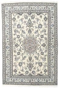 ナイン 絨毯 143X212 オリエンタル 手織り ベージュ/薄い灰色/濃いグレー (ウール, ペルシャ/イラン)