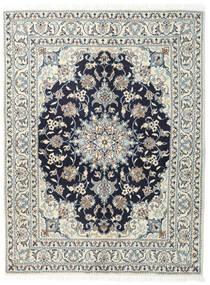 Nain Alfombra 145X190 Oriental Hecha A Mano Gris Oscuro/Gris Claro (Lana, Persia/Irán)