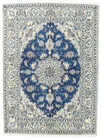 Nain Rug 144X200 Authentic  Oriental Handknotted Light Grey/Dark Blue (Wool, Persia/Iran)