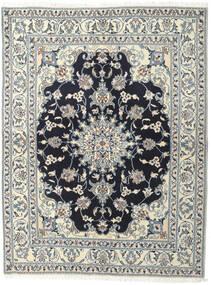ナイン 絨毯 145X190 オリエンタル 手織り 薄い灰色/濃いグレー (ウール, ペルシャ/イラン)