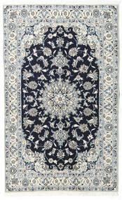 Nain Teppich  122X200 Echter Orientalischer Handgeknüpfter Hellgrau/Dunkelblau (Wolle, Persien/Iran)