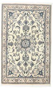 Nain Vloerkleed 121X196 Echt Oosters Handgeknoopt Beige/Lichtgrijs/Wit/Creme (Wol, Perzië/Iran)
