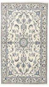 Nain Dywan 120X210 Orientalny Tkany Ręcznie Beżowy/Jasnoszary (Wełna, Persja/Iran)