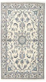 Nain Tapete 120X210 Oriental Feito A Mão Bege/Cinzento Claro (Lã, Pérsia/Irão)