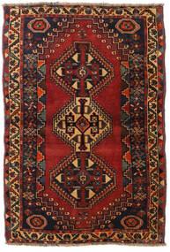 Ghashghai Covor 105X155 Orientale Lucrat Manual Negru/Roșu-Închis (Lână, Persia/Iran)