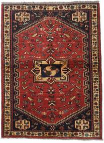 Qashqai Rug 105X142 Authentic  Oriental Handknotted Dark Red/Black (Wool, Persia/Iran)