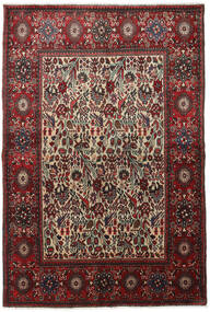 Rudbar Matta 145X210 Äkta Orientalisk Handknuten Mörkröd/Mörkbrun (Ull, Persien/Iran)