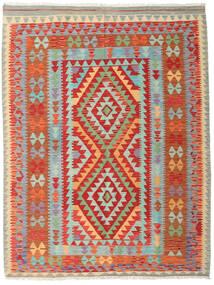Kilim Afghan Old Style Rug 150X197 Authentic  Oriental Handwoven Rust Red/Light Grey (Wool, Afghanistan)