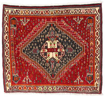 Ghashghai Teppe 60X67 Ekte Orientalsk Håndknyttet Kvadratisk Mørk Rød/Rust (Ull, Persia/Iran)