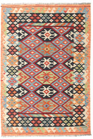 Kilim Afghan Old Style Rug 126X184 Authentic  Oriental Handwoven Beige/Dark Grey (Wool, Afghanistan)