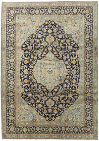 Keshan Rug 254X361 Authentic  Oriental Handknotted Black/Light Grey Large (Wool, Persia/Iran)