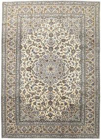 Keshan Matta 248X345 Äkta Orientalisk Handknuten Ljusgrå/Mörkgrå/Beige (Ull, Persien/Iran)