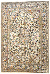 Keshan Matta 247X362 Äkta Orientalisk Handknuten Beige/Mörkbeige (Ull, Persien/Iran)