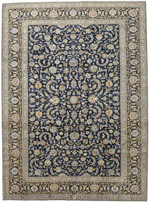 Keshan Rug 276X377 Authentic  Oriental Handknotted Light Grey/Dark Grey Large (Wool, Persia/Iran)