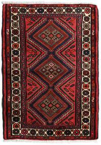 Hamadan Matto 80X120 Itämainen Käsinsolmittu Musta/Tummanpunainen (Villa, Persia/Iran)
