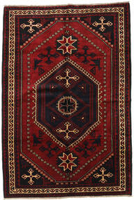 Lori Rug 180X260 Authentic  Oriental Handknotted Black/Dark Red (Wool, Persia/Iran)
