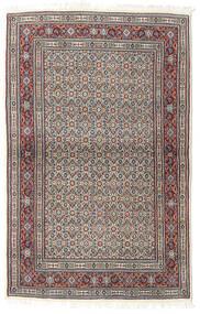 Moud Matta 100X155 Äkta Orientalisk Handknuten Ljusgrå/Mörkgrå (Ull/Silke, Persien/Iran)