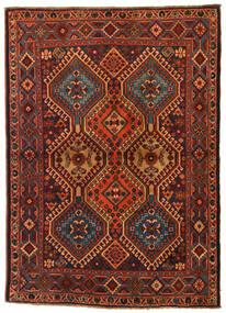 Yalameh Tapis 110X155 D'orient Fait Main Marron Foncé/Rouge Foncé (Laine, Perse/Iran)