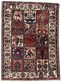 Bakhtiari Rug 110X151 Authentic  Oriental Handknotted Dark Brown/Beige (Wool, Persia/Iran)