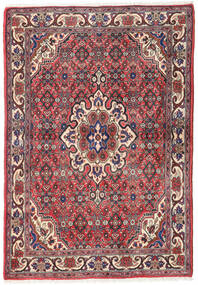 Keshan Rug 102X149 Authentic  Oriental Handknotted Dark Red/Beige (Wool, Persia/Iran)