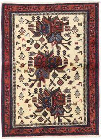 Afshar Shahre Babak Teppe 100X136 Ekte Orientalsk Håndknyttet Mørk Brun/Beige (Ull, Persia/Iran)