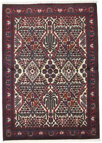 Meimeh Teppich 110X156 Echter Orientalischer Handgeknüpfter Dunkelrot/Schwartz (Wolle, Persien/Iran)