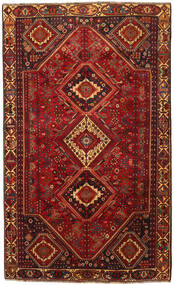 Shiraz Rug 180X300 Authentic  Oriental Handknotted Dark Red/Dark Brown (Wool, Persia/Iran)