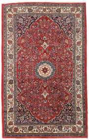 Saruk Tappeto 137X220 Orientale Fatto A Mano Rosso Scuro/Blu Scuro (Lana, Persia/Iran)