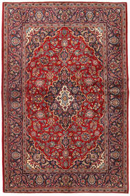 Keshan Rug 140X212 Authentic  Oriental Handknotted Dark Red/Dark Brown (Wool, Persia/Iran)