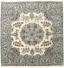 Keshan Rug 196X202 Authentic  Oriental Handknotted Square Beige/Light Grey (Wool, Persia/Iran)
