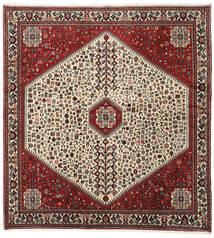 Abadeh Vloerkleed 195X210 Echt Oosters Handgeknoopt Vierkant Donkerbruin/Donkerrood (Wol, Perzië/Iran)
