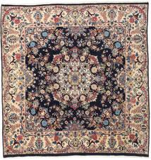 Mashad Tappeto 192X198 Orientale Fatto A Mano Quadrato Beige/Marrone Scuro (Lana, Persia/Iran)